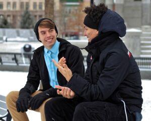Pronunciation - men speaking