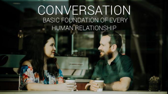 People having conversation
